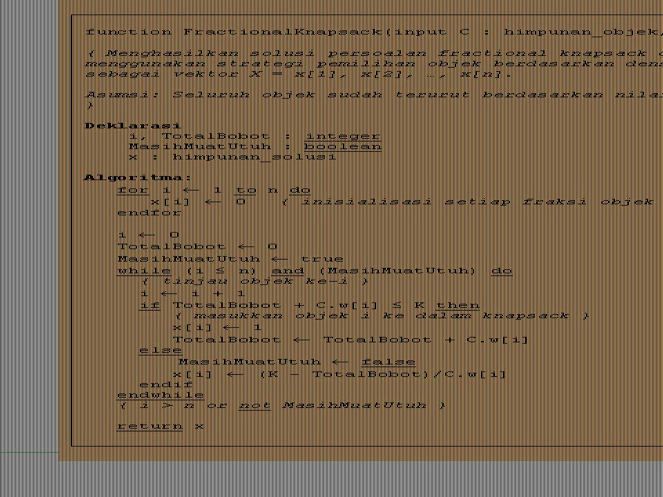 Kompleksitas waktu algoritma = O(n).