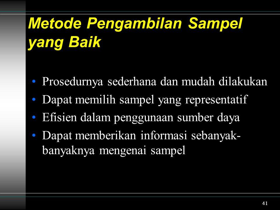 Metode Pengambilan Sampel yang Baik