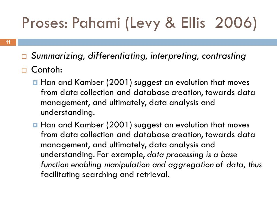 Proses: Pahami (Levy & Ellis 2006)