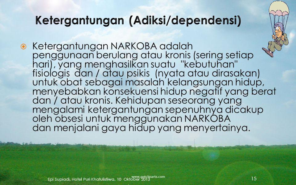 Ketergantungan (Adiksi/dependensi)