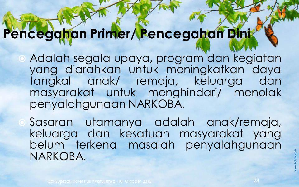 Pencegahan Primer/ Pencegahan Dini