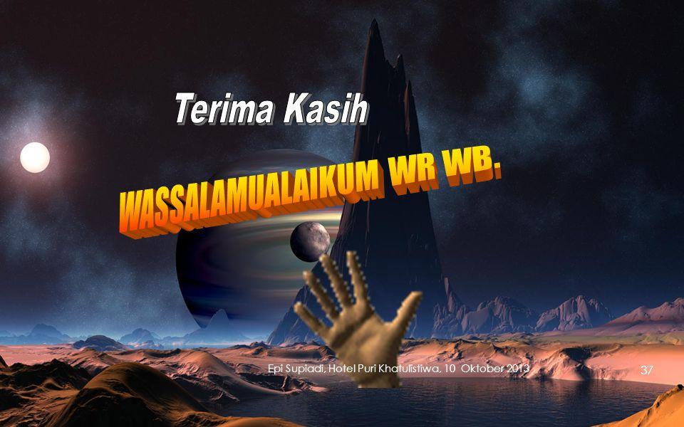 WASSALAMUALAIKUM WR WB.
