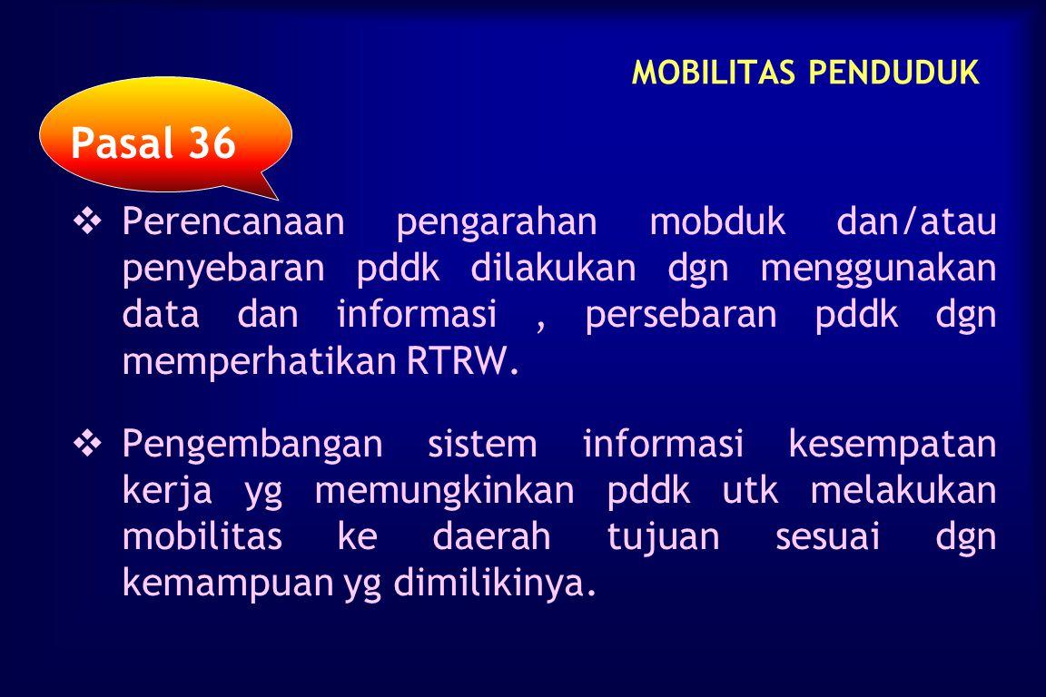 MOBILITAS PENDUDUK Pasal 36.