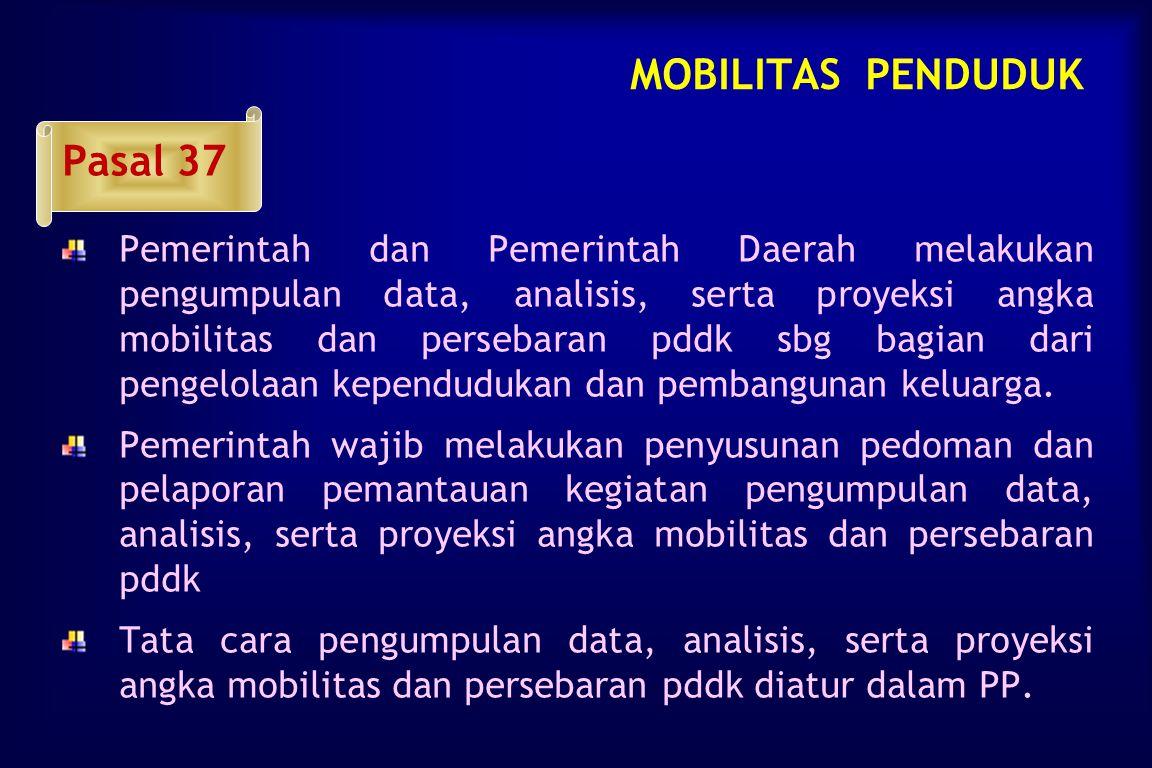 MOBILITAS PENDUDUK Pasal 37