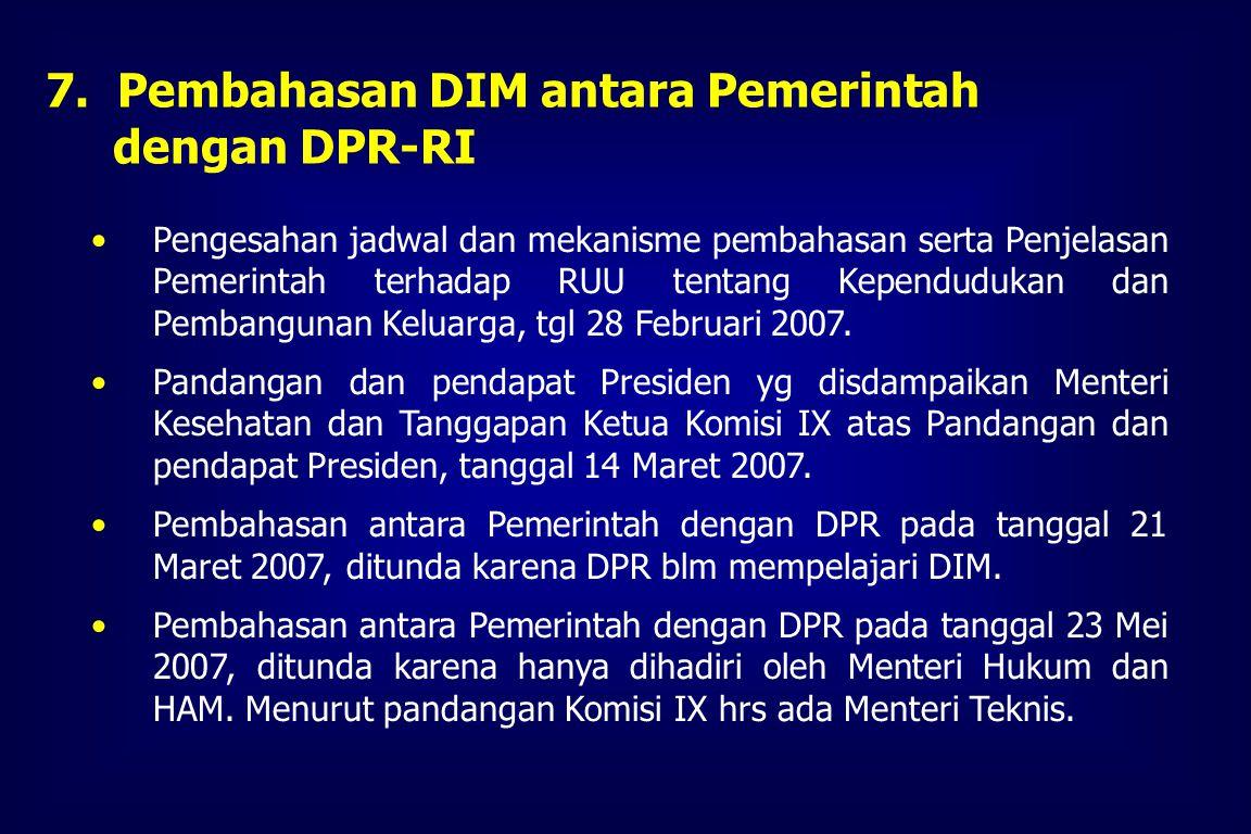 Pembahasan DIM antara Pemerintah dengan DPR-RI