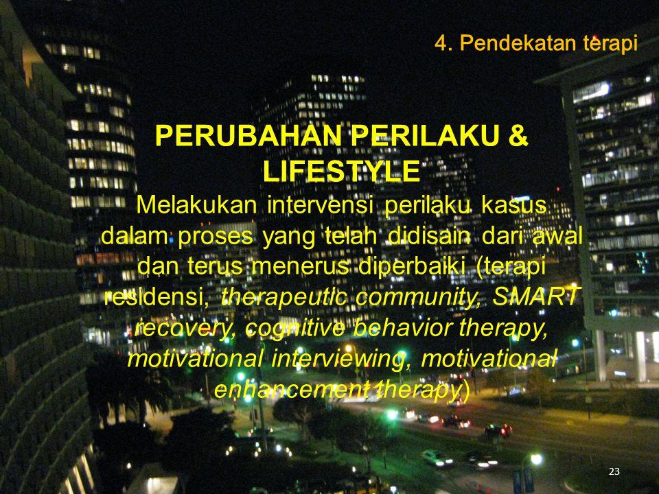 PERUBAHAN PERILAKU & LIFESTYLE
