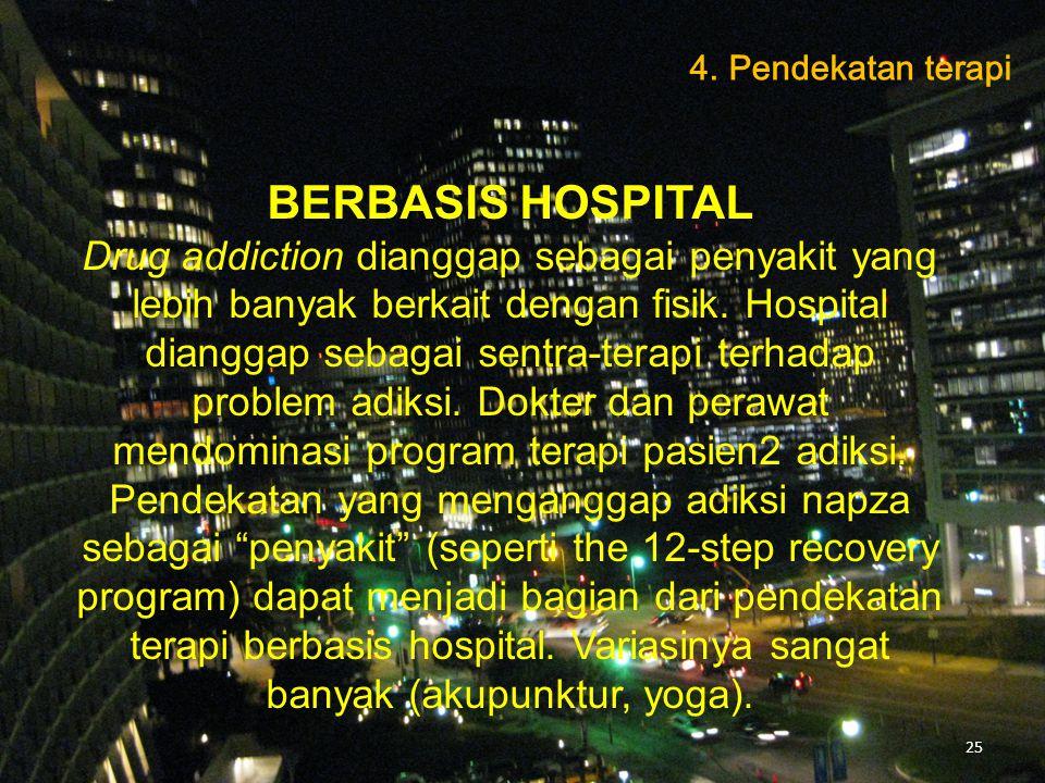 4. Pendekatan terapi BERBASIS HOSPITAL.