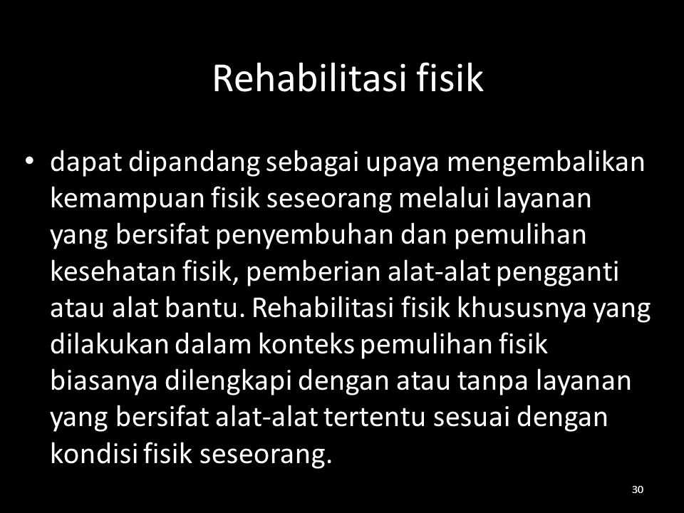Rehabilitasi fisik