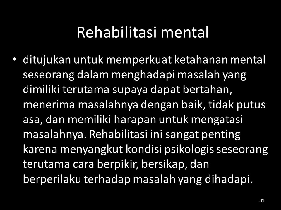 Rehabilitasi mental