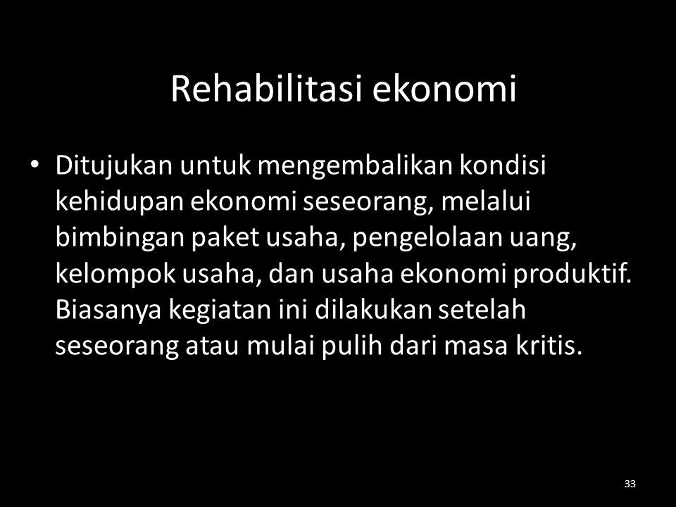 Rehabilitasi ekonomi