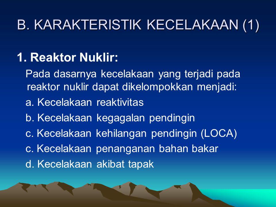 B. KARAKTERISTIK KECELAKAAN (1)