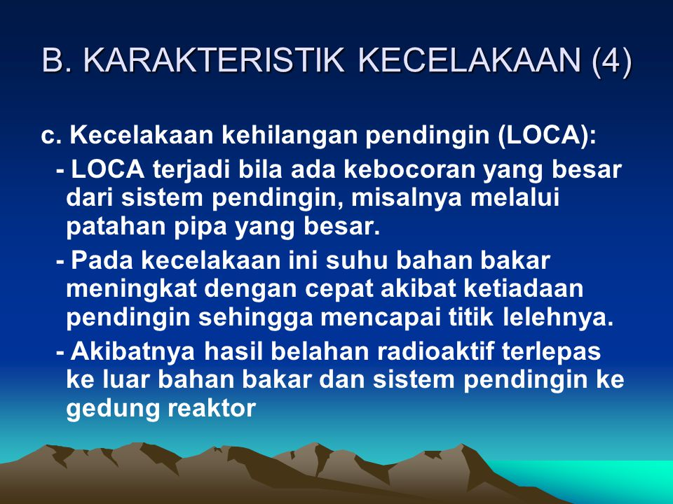 B. KARAKTERISTIK KECELAKAAN (4)