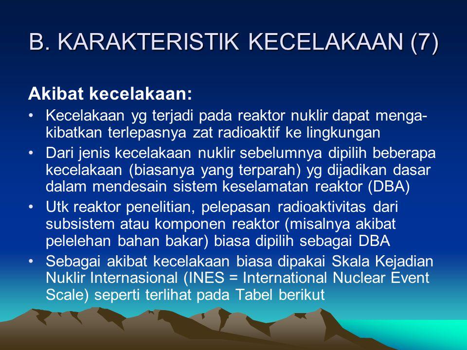 B. KARAKTERISTIK KECELAKAAN (7)