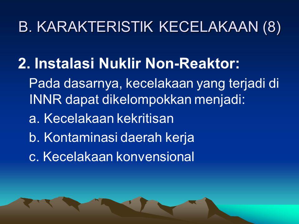 B. KARAKTERISTIK KECELAKAAN (8)