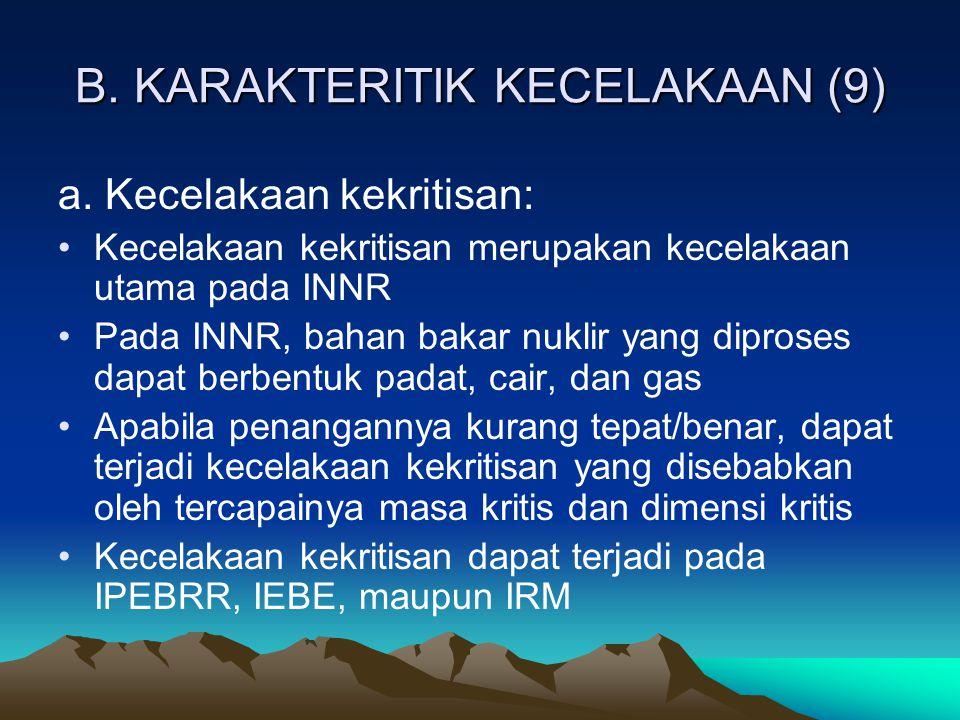 B. KARAKTERITIK KECELAKAAN (9)