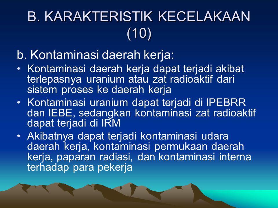 B. KARAKTERISTIK KECELAKAAN (10)