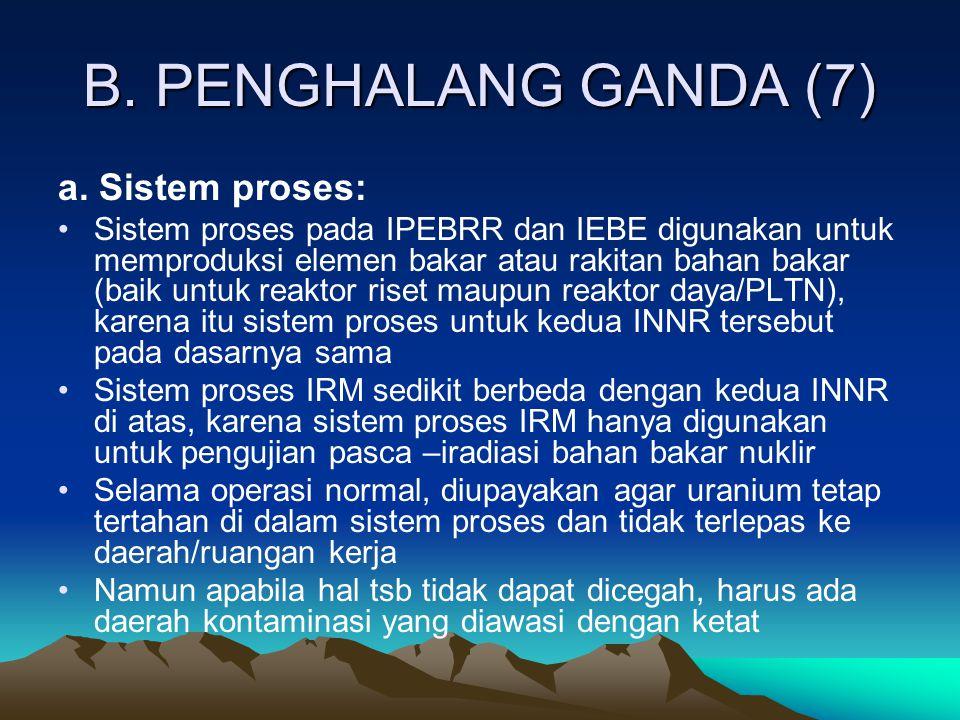 B. PENGHALANG GANDA (7) a. Sistem proses:
