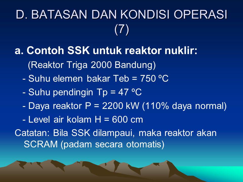 D. BATASAN DAN KONDISI OPERASI (7)