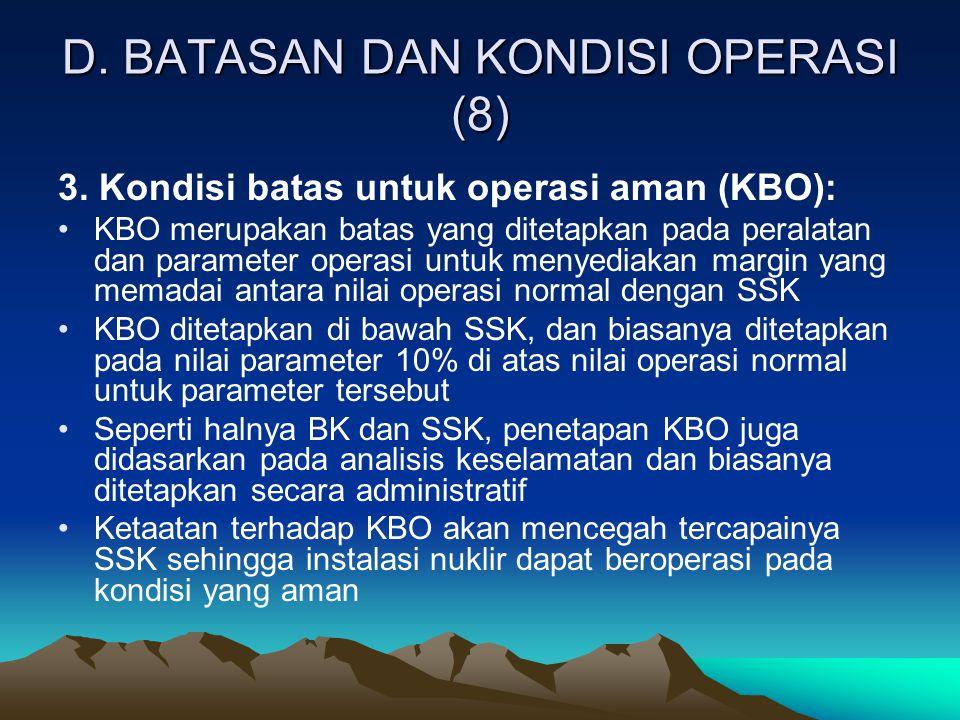 D. BATASAN DAN KONDISI OPERASI (8)
