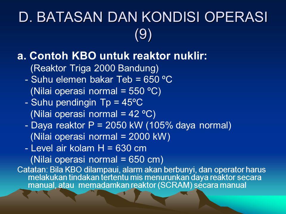 D. BATASAN DAN KONDISI OPERASI (9)