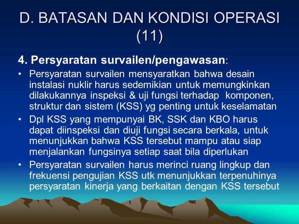 D. BATASAN DAN KONDISI OPERASI (11)