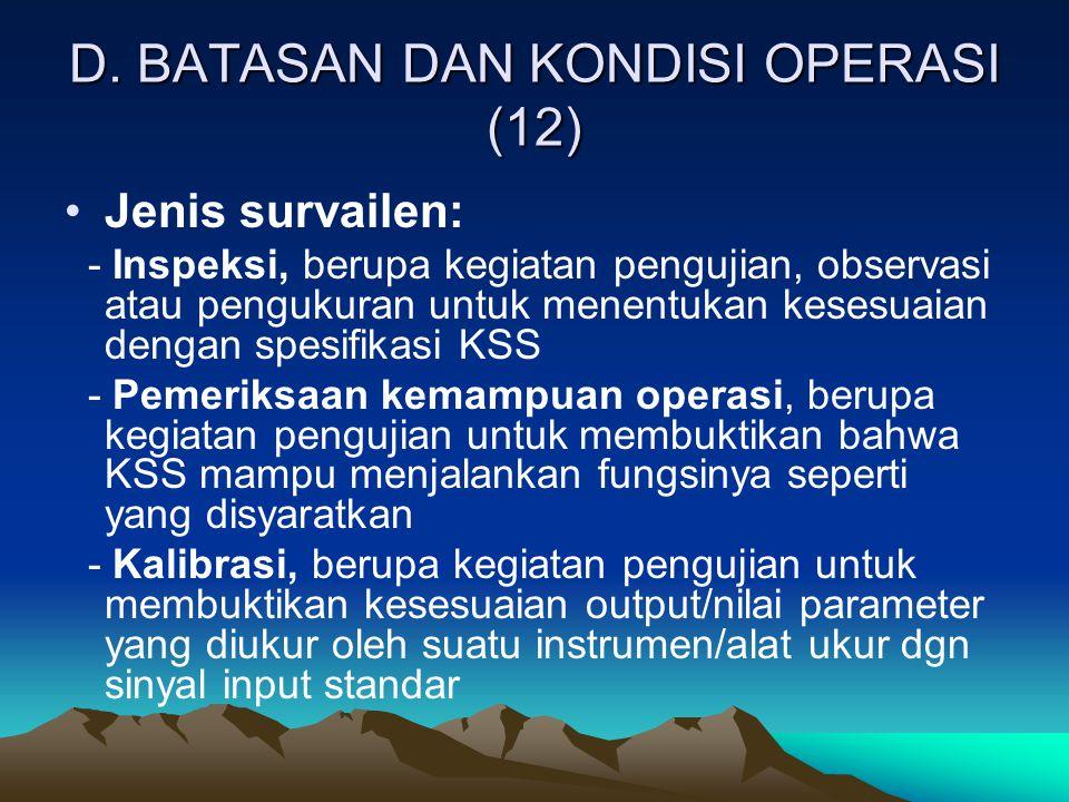 D. BATASAN DAN KONDISI OPERASI (12)
