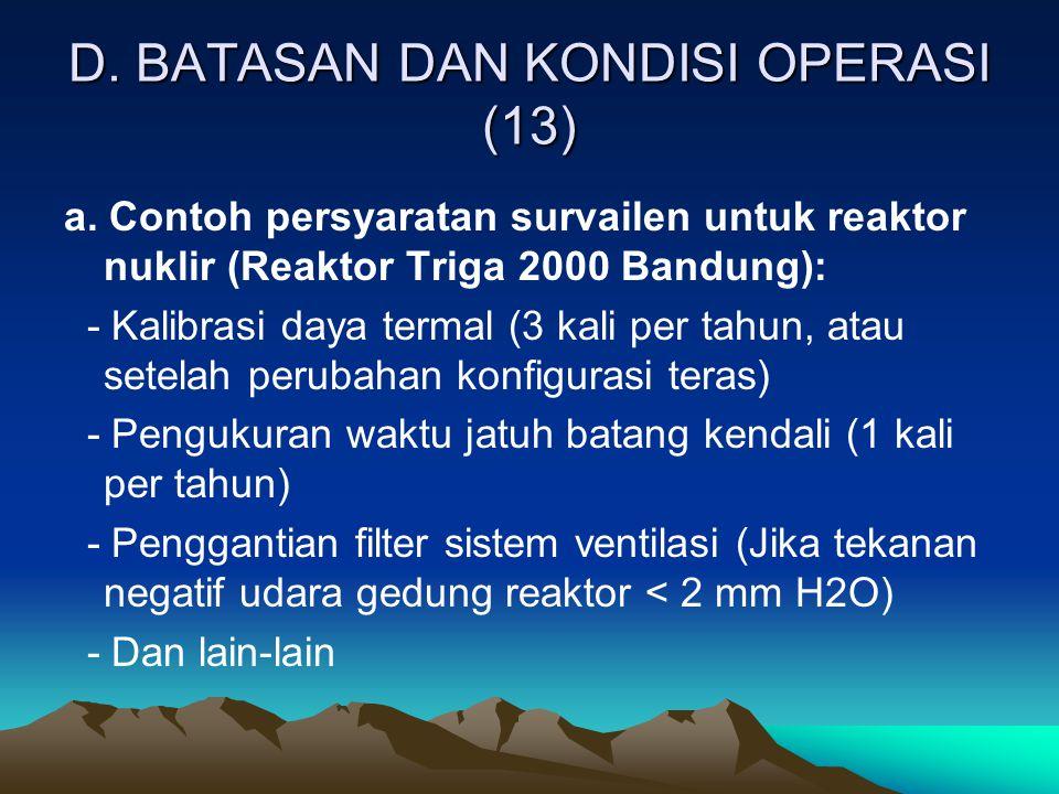 D. BATASAN DAN KONDISI OPERASI (13)
