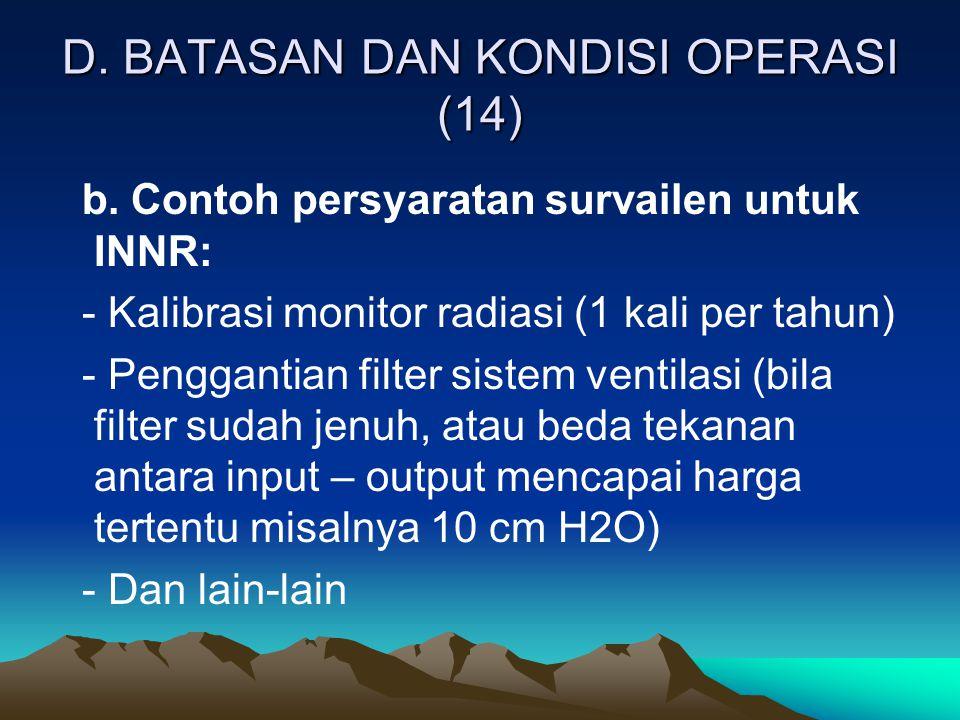 D. BATASAN DAN KONDISI OPERASI (14)