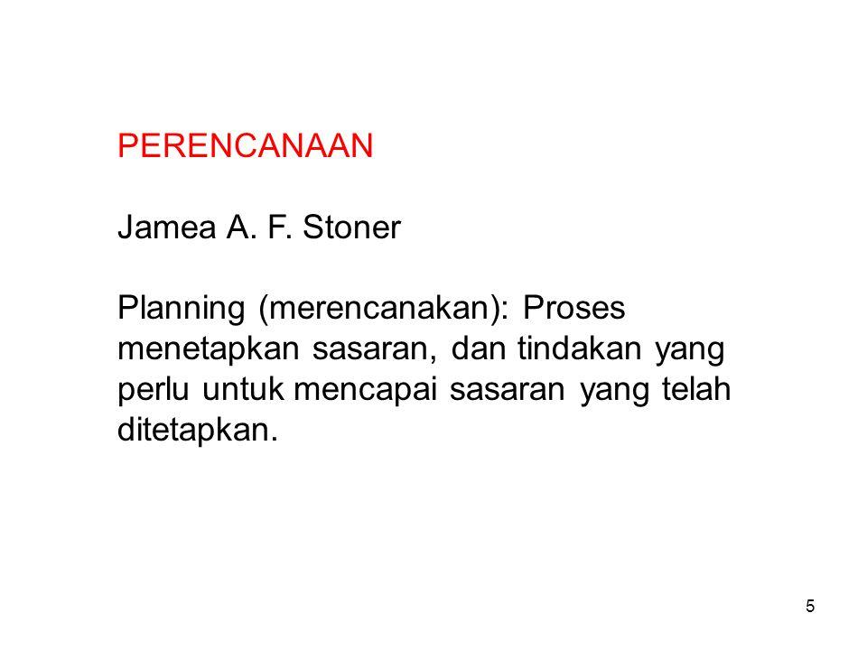 PERENCANAAN Jamea A. F. Stoner.