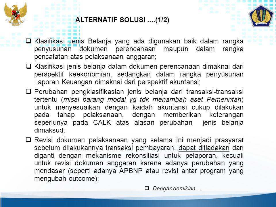 ALTERNATIF SOLUSI ....(1/2)