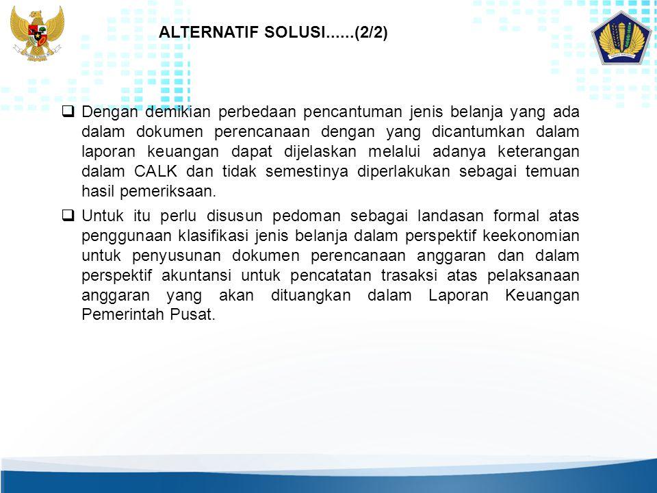 ALTERNATIF SOLUSI......(2/2)