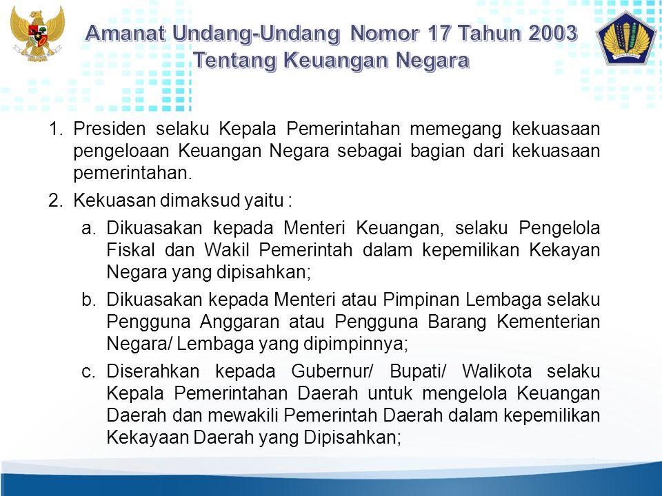 Amanat Undang-Undang Nomor 17 Tahun 2003 Tentang Keuangan Negara
