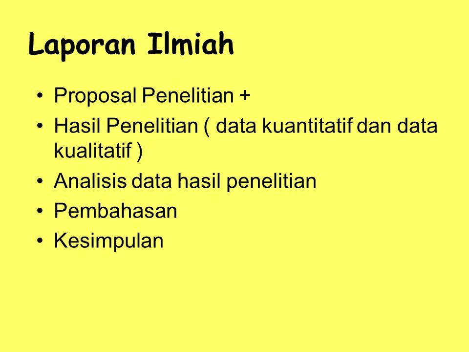 Laporan Ilmiah Proposal Penelitian +
