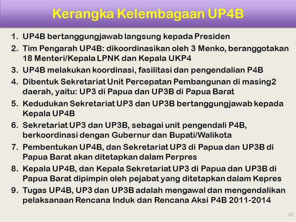 Kerangka Kelembagaan UP4B