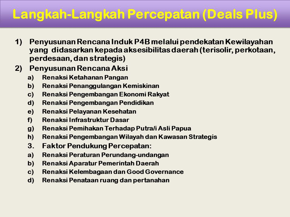 Langkah-Langkah Percepatan (Deals Plus)