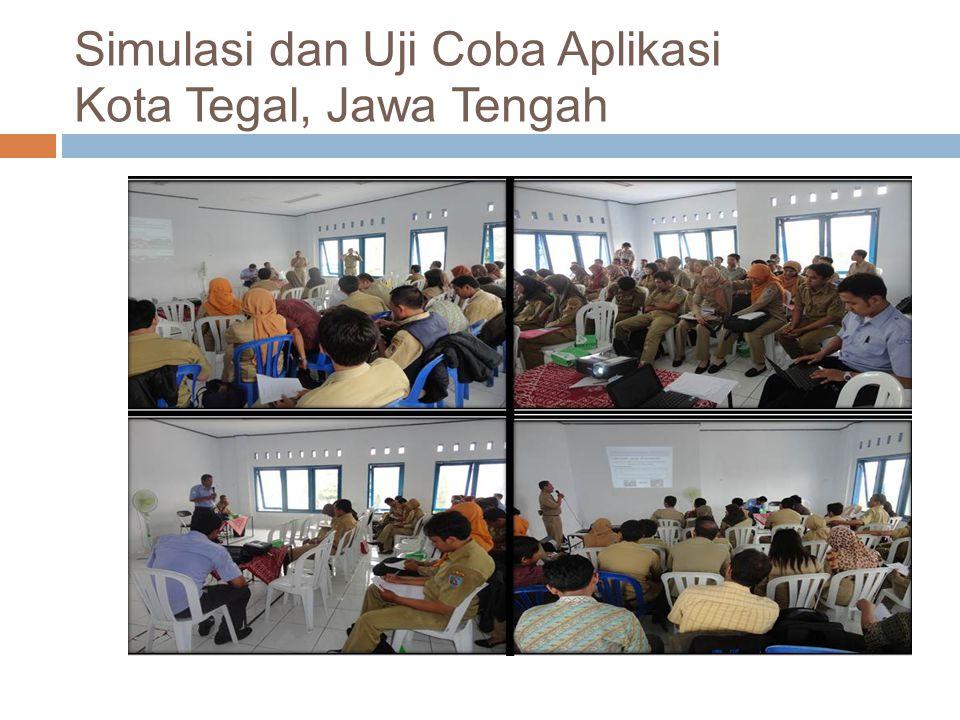 Simulasi dan Uji Coba Aplikasi Kota Tegal, Jawa Tengah
