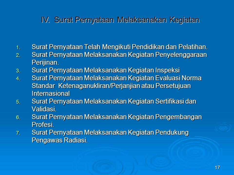 IV. Surat Pernyataan Melaksanakan Kegiatan