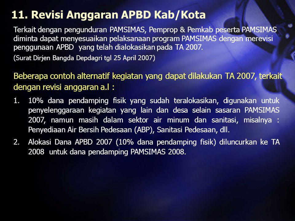 11. Revisi Anggaran APBD Kab/Kota