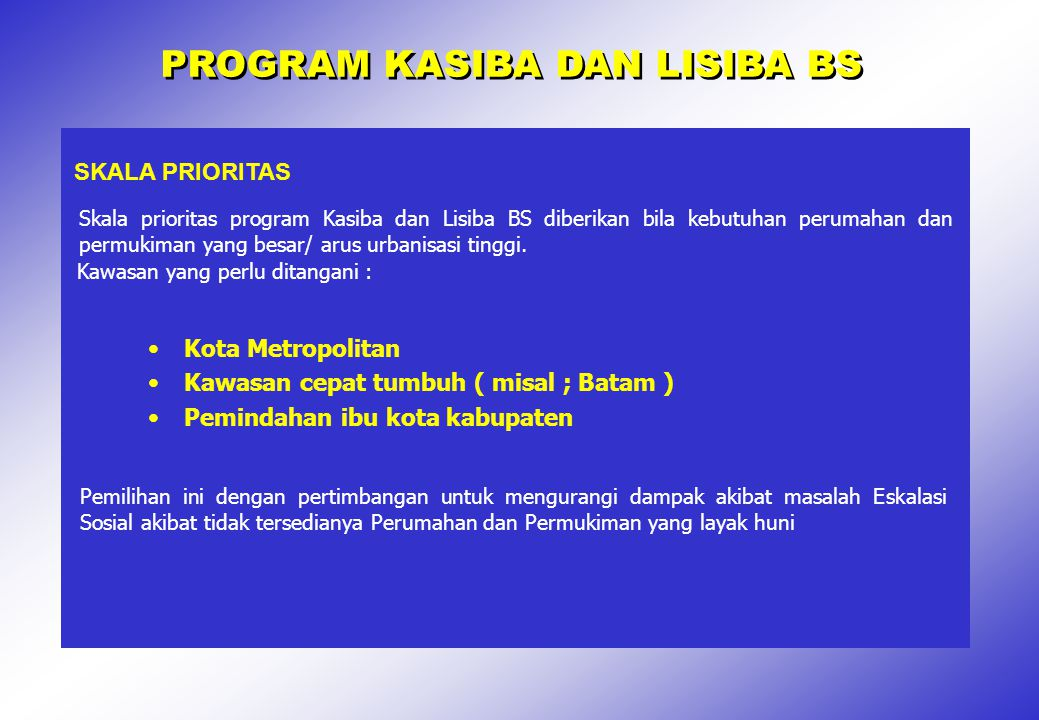 PROGRAM KASIBA DAN LISIBA BS