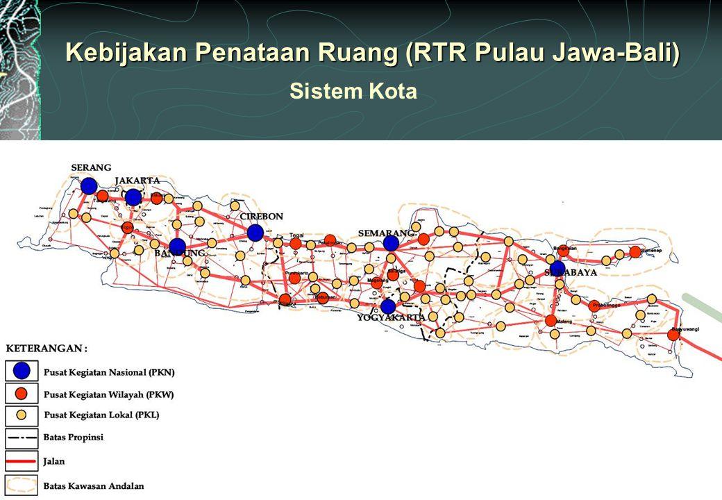 Kebijakan Penataan Ruang (RTR Pulau Jawa-Bali)