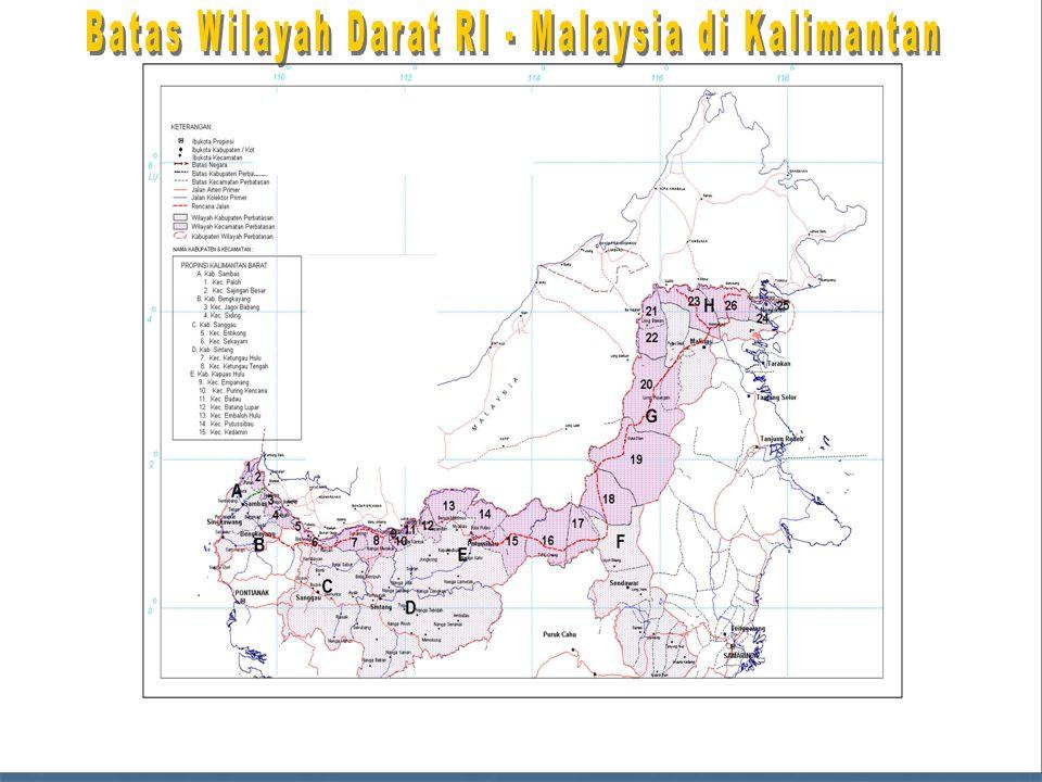 Batas Wilayah Darat RI - Malaysia di Kalimantan