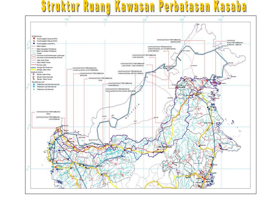 Struktur Ruang Kawasan Perbatasan Kasaba