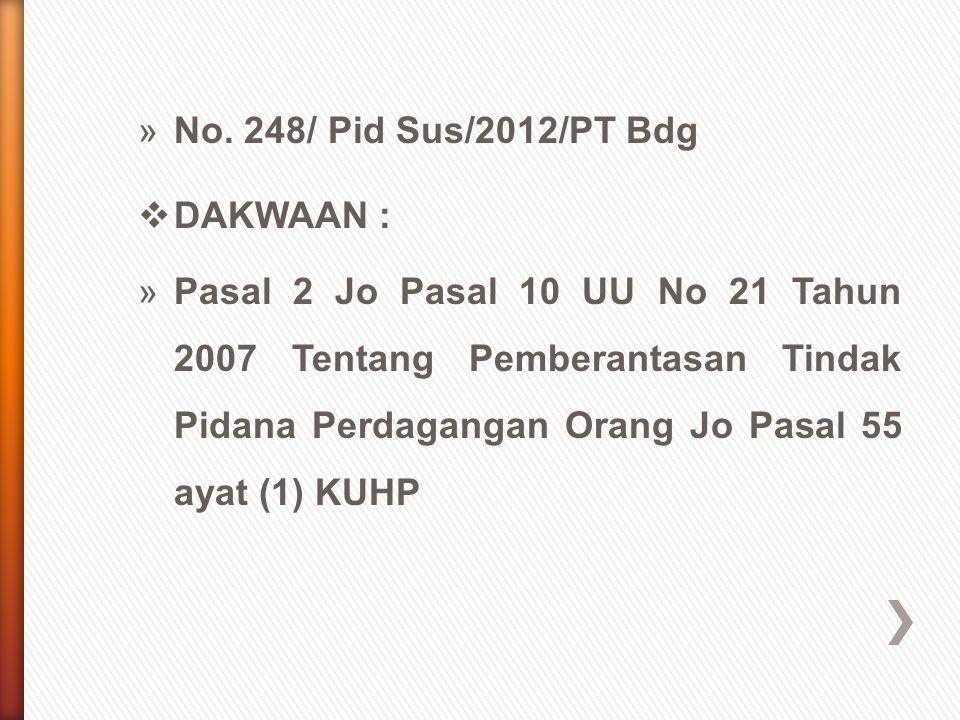 No. 248/ Pid Sus/2012/PT Bdg DAKWAAN :