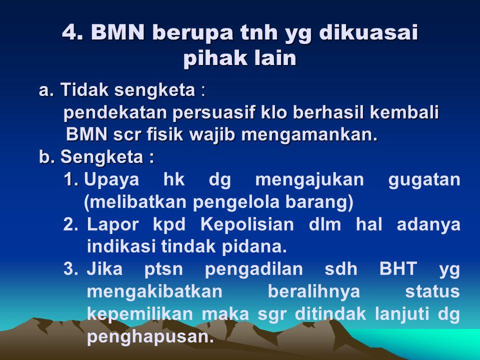 4. BMN berupa tnh yg dikuasai pihak lain
