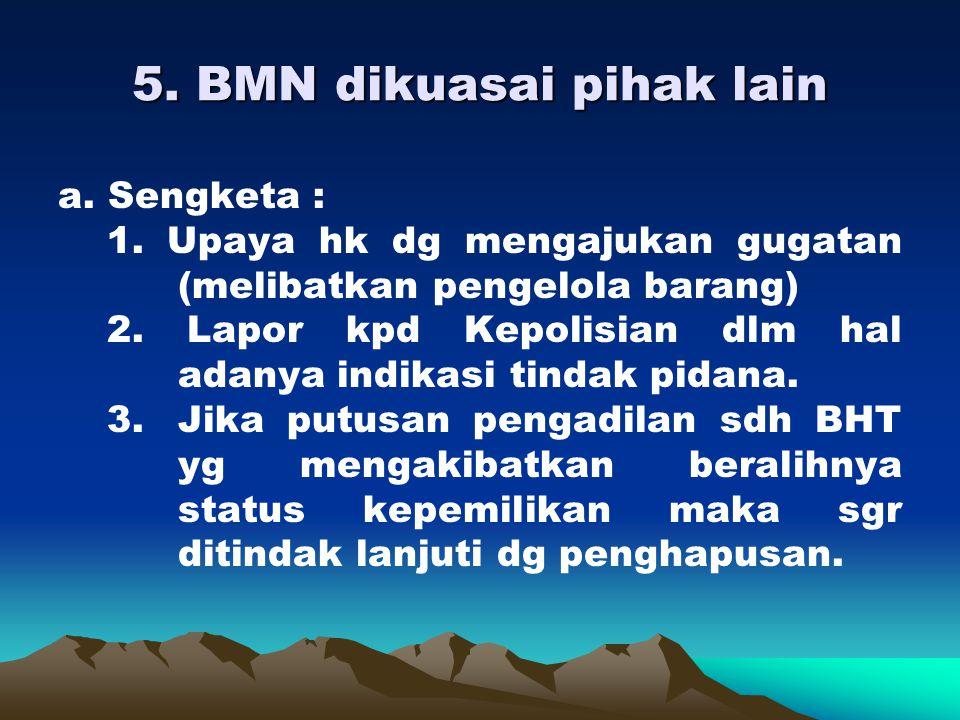 5. BMN dikuasai pihak lain