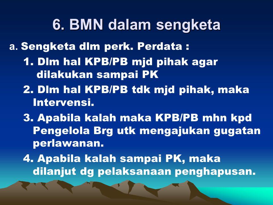6. BMN dalam sengketa
