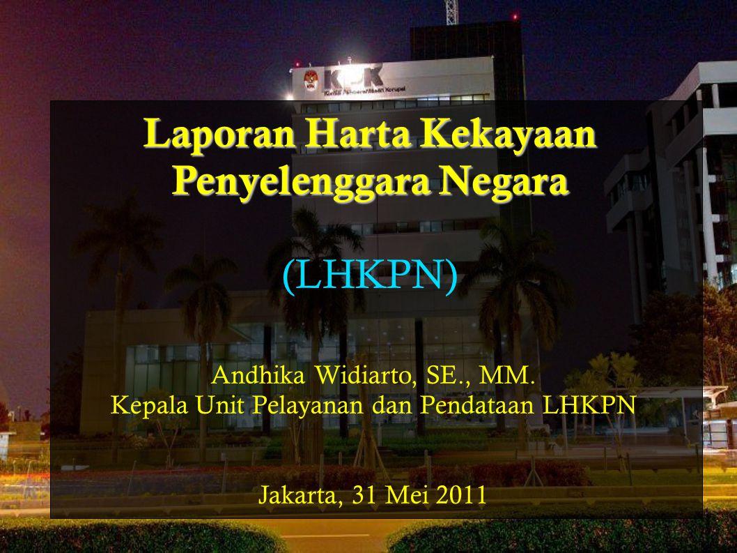 Laporan Harta Kekayaan Penyelenggara Negara (LHKPN)