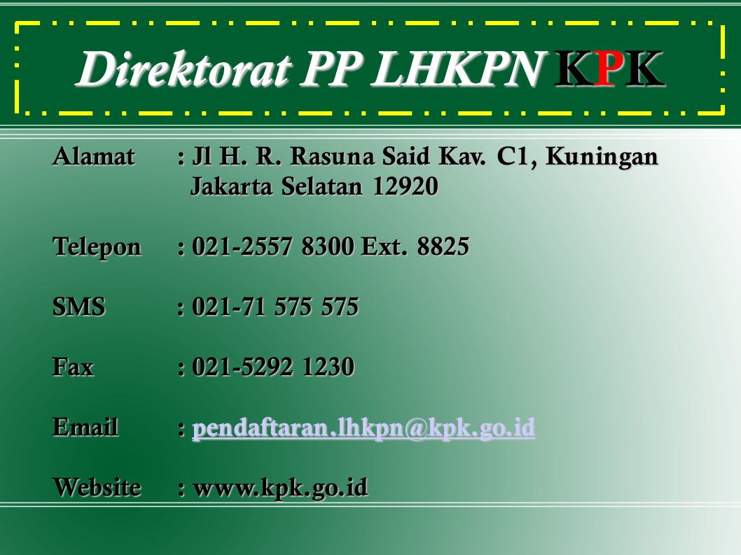 Direktorat PP LHKPN KPK