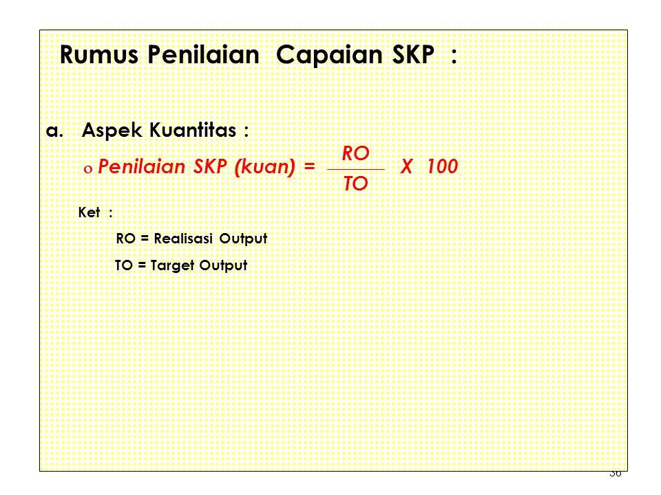 Rumus Penilaian Capaian SKP :
