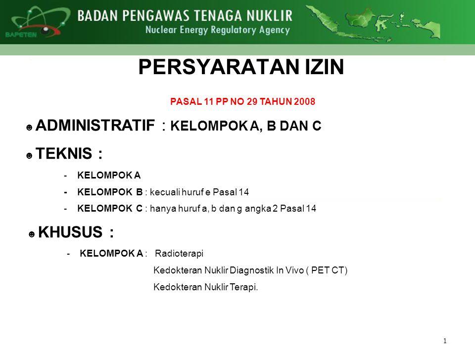 PERSYARATAN IZIN PASAL 11 PP NO 29 TAHUN 2008
